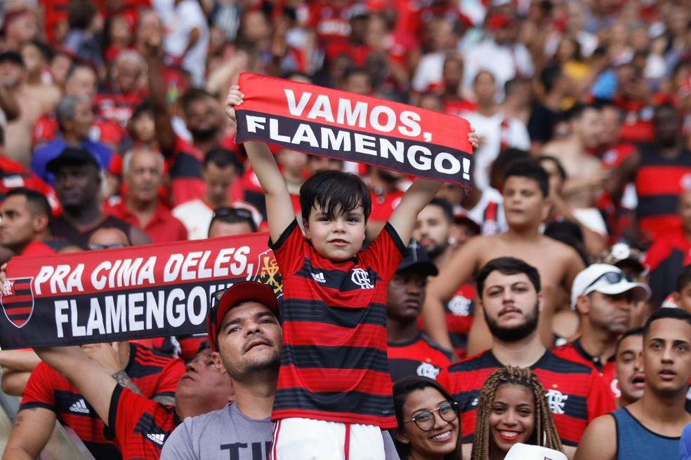 Torcida do Flamengo promete bom público para estreia no Carioca — Foto: DIEGO MARANHÃO/PHOTOPRESS/ESTADÃO CONTEÚDO