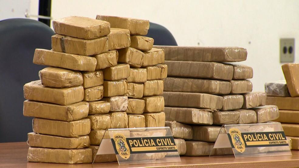 Droga apreendida no Espírito Santo — Foto: Reprodução/ TV Gazeta