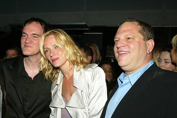 Quentin Tarantino, Uma Thurman e Harvey Weinstein (Foto: Getty Images)