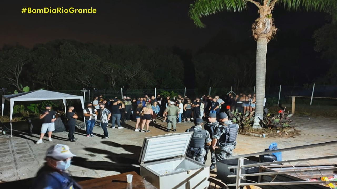 Guarda Municipal interrompe eventos reunindo mais de 100 pessoas em Passo Fundo