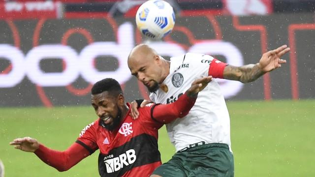 Felipe Melo e Gerson, Flamengo x Palmeiras