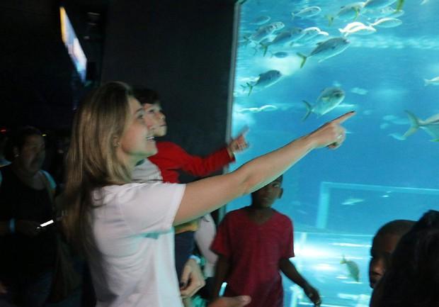 Visita ao AquaRio (Foto: Cleomir Tavares/Divulgação)