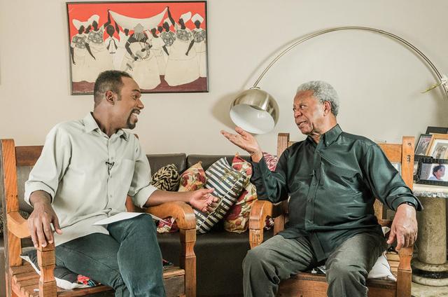 Milton Gonçalves e Vinícius Roberto Sylvestre (Foto: Divulgação)