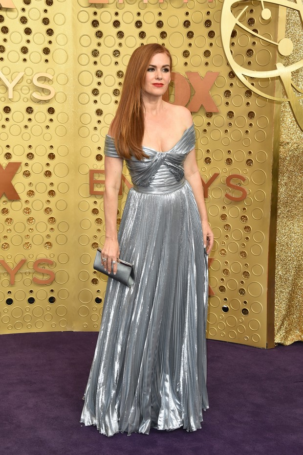 Isla Fisher usa vestido Zuhair Murad e joias Norman Silverman (Foto: Getty Images)