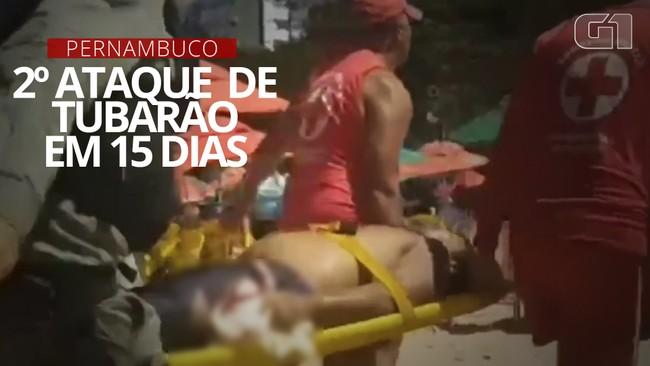 Homem é atacado por tubarão na praia de Piedade, em Jaboatão dos Guararapes