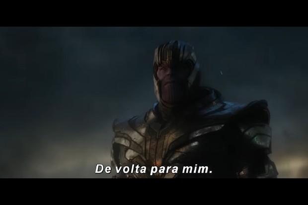 Thanos em novo teaser de Vingadores: Ultimato (Foto: reprodução)