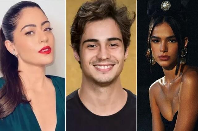 Carol Castro, Danilo Mesquita e Bruna Marquezine farão 'Condom ladies' (Foto: Reprodução/Instagram e Divulgação/Globo)