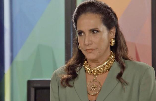Na quinta-feira (13), Mercedes (Totia Meireles) será desmascarada por Gisela (Débora Nascimento) (Foto: TV Globo )