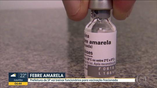 Treinamento de funcionários para vacina fracionada em SP começa na segunda, diz secretário