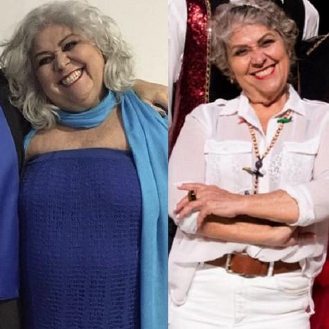 Sônia de Paula antes e depois da cirurgia bariátria (Foto: Arquivo pessoal)