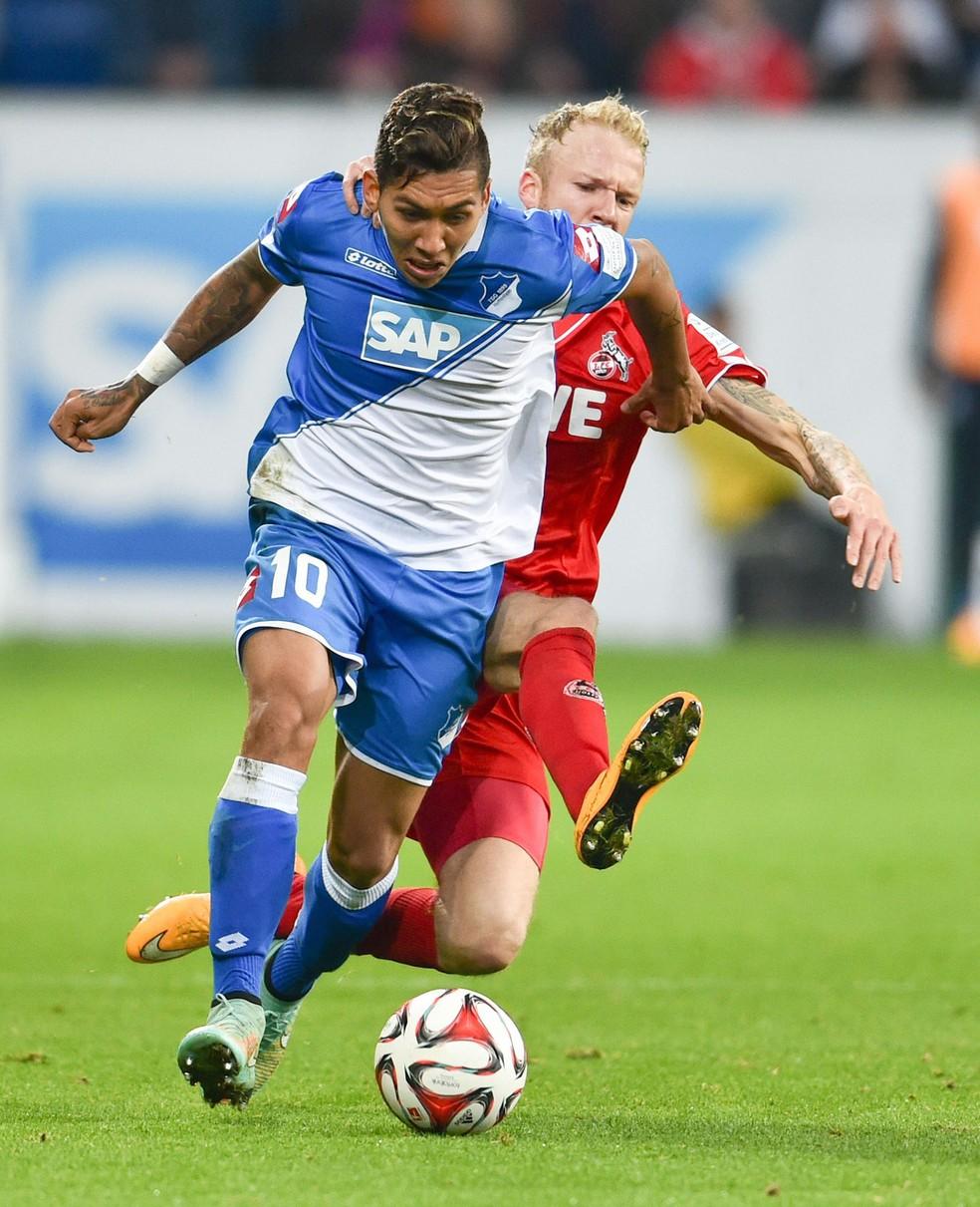 Roberto Firmino quando atuava pelo Hoffenheim — Foto: EFE