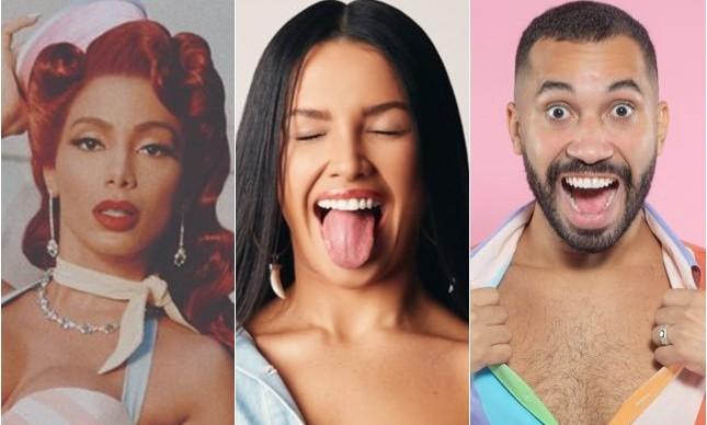 A cantora Anitta, a maquiadora Juliette Freire e o economista Gilberto Nogueira