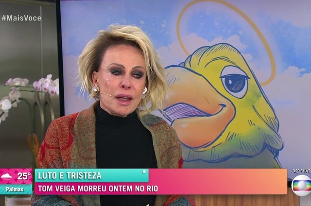 Ana Maria Braga em homenagem ao ator Tom Veiga (Foto: Reprodução)