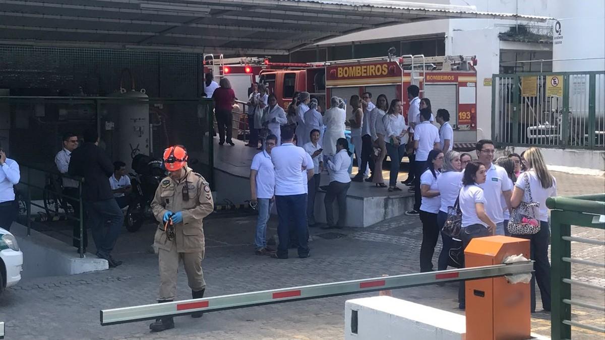 Princípio de incêndio destrói leito de UTI em hospital de João Pessoa e deixa um ferido