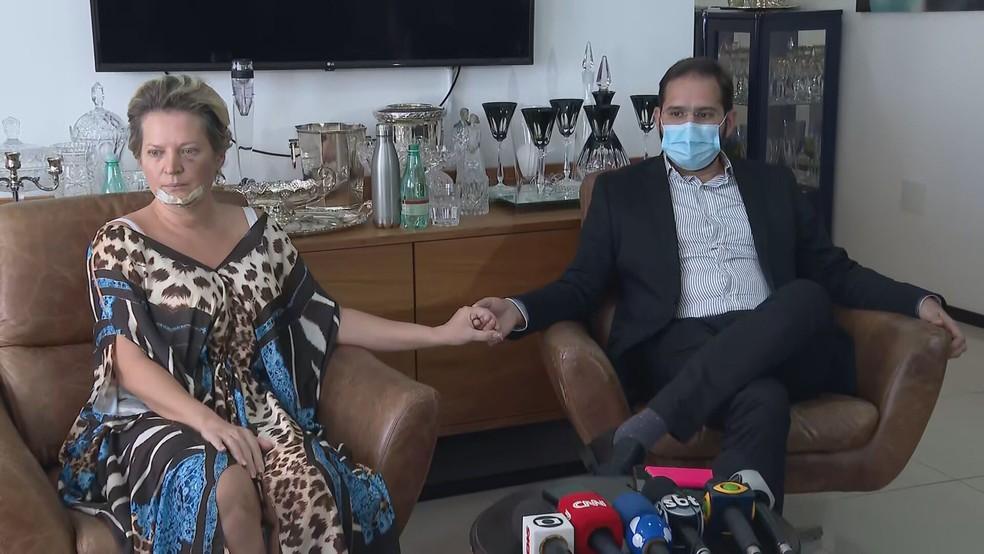 Joice Hasselmann e marido, Daniel França  — Foto: TV Globo/Reprodução