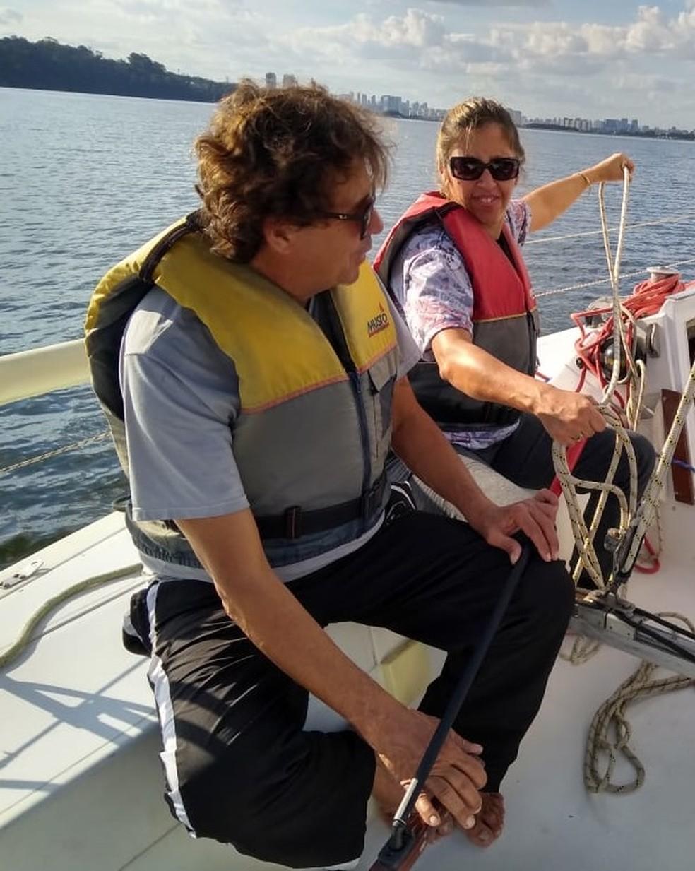 Dupla de velejadores cegos disputará pela primeira vez Semana da Vela  — Foto: Divulgação