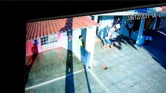Empresário reage a assalto com vassouradas no RN; veja vídeo
