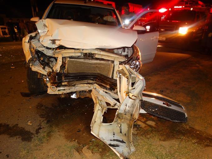 Seis pessoas ficam feridas em acidente entre dois veículos em Muriaé