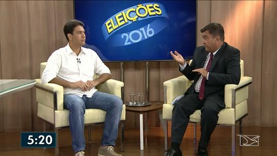 Candidato a prefeito Eduardo Braide é entrevistado na TV Mirante