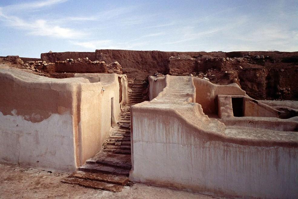 Ebla foi um dos primeiros reinos da Síria, estabelecido pela primeira vez por volta de 3.500 a.C. — Foto: Marina Milella/Decarch/BBC