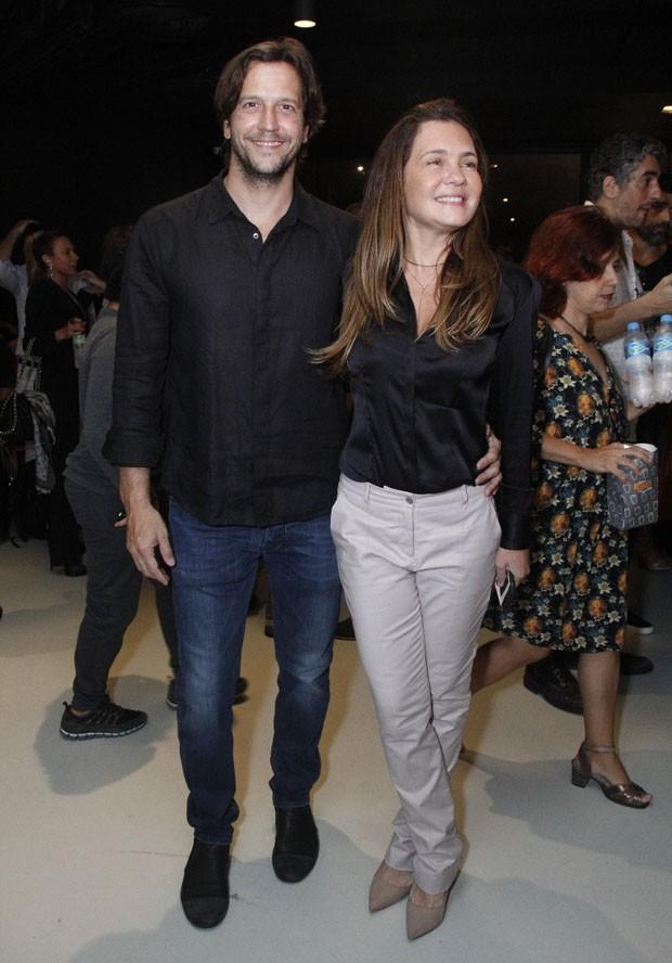 Adriana Esteves e Vladimir Brichta (Foto: Wallace Barbosa/AgNews)