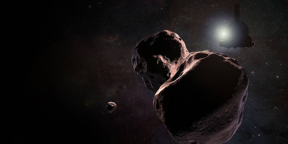 Ilustração mostra a chegada da New Horizons no objeto mais distante que já foi explorado (Foto: NASA)