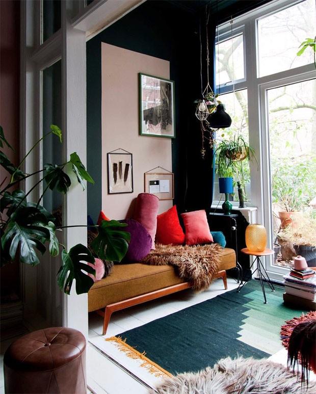 Décor do dia: sala de estar colorida (Foto: Reprodução/Divulgação)