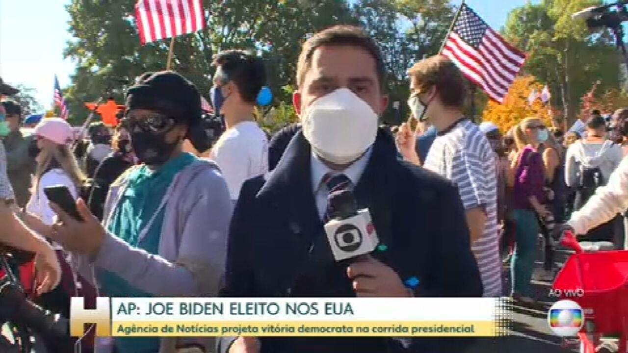 Americanos comemoram eleição de Joe Biden nos Estados Unidos