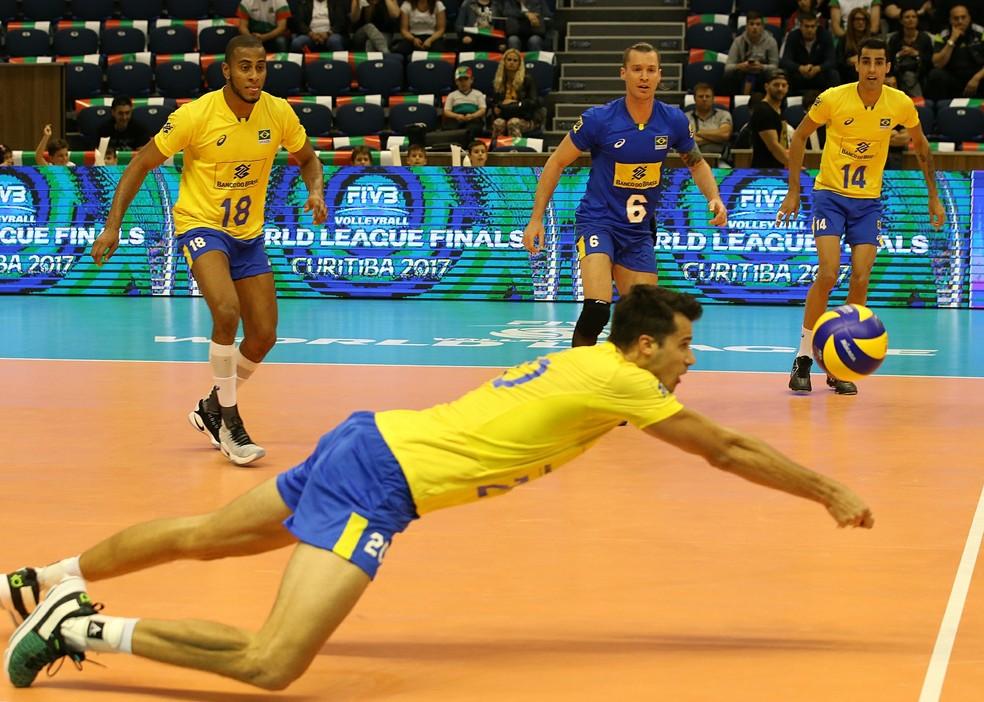 Final da Liga Mundial em 2017 foi em Curitiba — Foto: FIVB