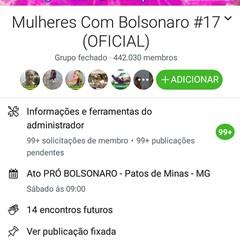 Grupo Mulheres com Bolsonaro  (Foto: Reprodução)