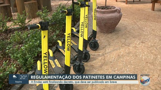 Campinas limita patinetes em áreas de circulação de pedestres; Emdec estuda uso do capacete