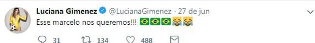 Luciana Gimenez alfineta o ex (Foto: Reprodução/Twitter)