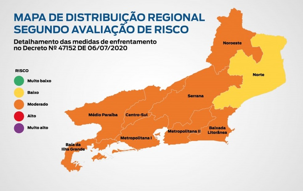 Mapa de avaliação de risco — Foto: Divulgação