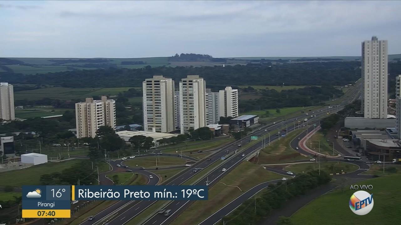 Veja a previsão do tempo para Ribeirão Preto nesta segunda-feira