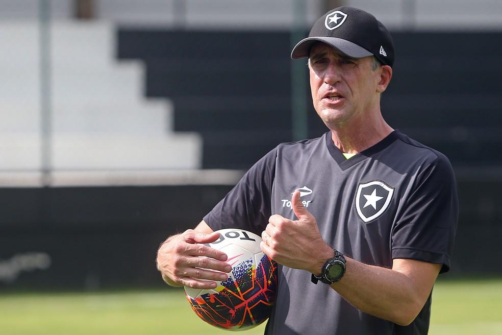 Preparador de goleiros Flávio Tênius vê disputa aberta em 2018 (Foto: Vitor Silva / SSpress / Botafogo)