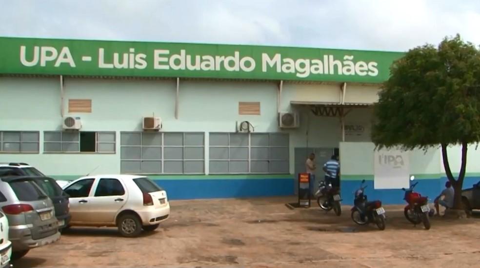 Mulher foi atendida na Upa de Luís Eduardo Magalhães — Foto: Reprodução/TV Oeste