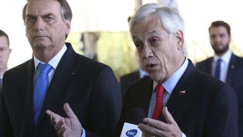 Presidente do Brasil, Jair Bolsonaro, e presidente do Chile, Sebastián Piñera (Foto: Antônio Cruz/Agência Estado)