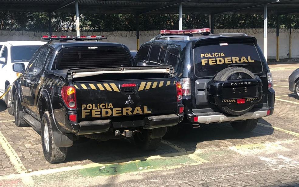 Viaturas da PF clonadas que foram usadas em assalto milionário no Aeroporto de Guarulhos — Foto: Kleber Tomaz/G1