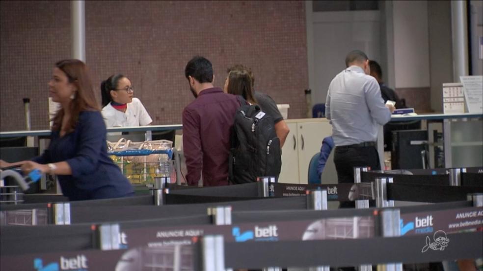 Aeroporto de Fortaleza (Foto: TV Verdes Mares/Reprodução)