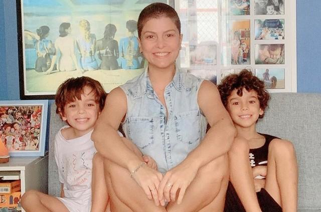 Bárbara Borges e os filhos (Foto: Reprodução/ Instagram)