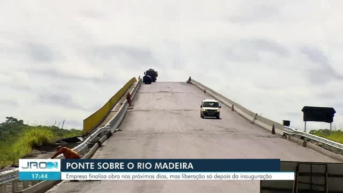 Ponte sobre o rio Madeira que dá acesso ao Acre está em fase de finalização em Rondônia