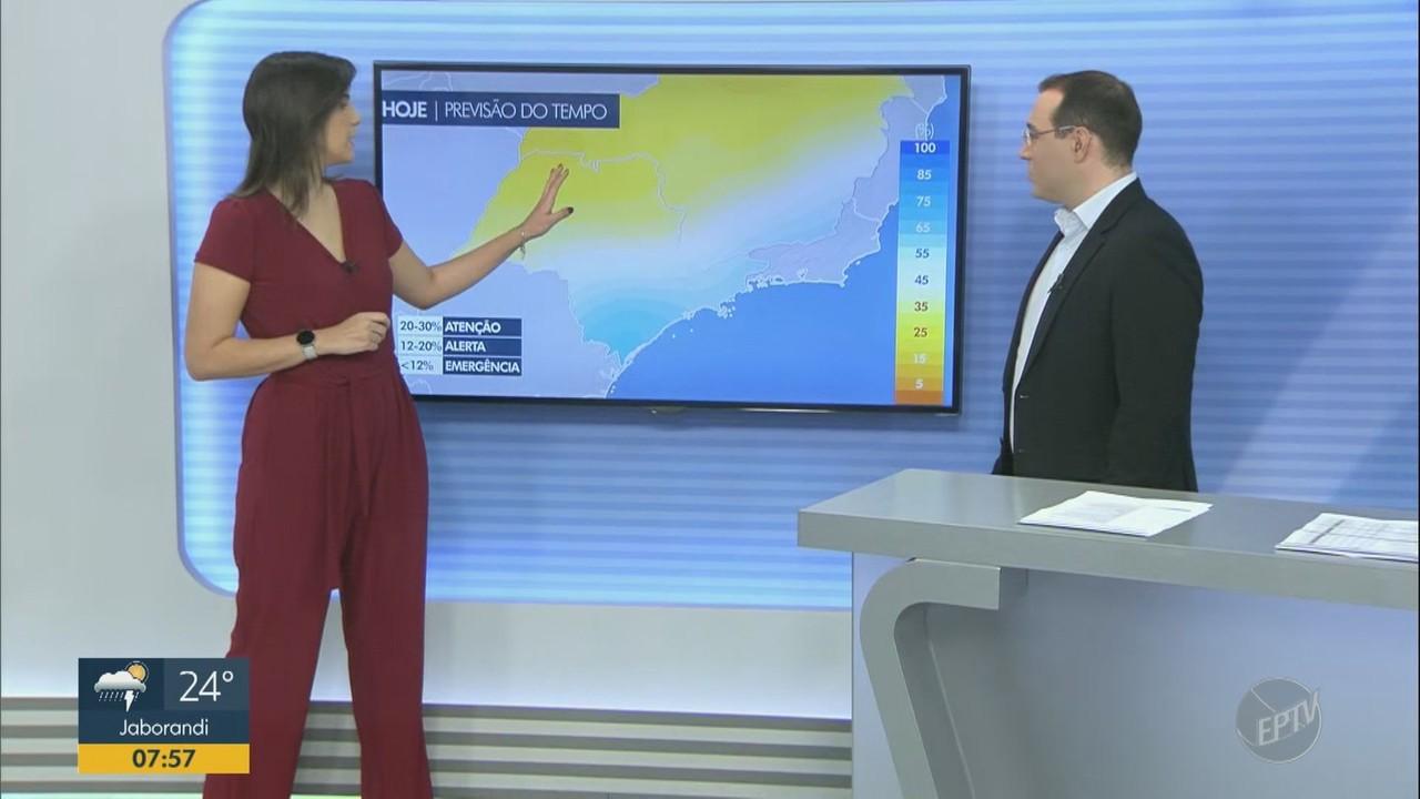 Previsão para a região é de chances de chuvas no período da tarde nesta quinta (15)