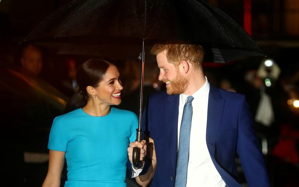 Prince Harry e sua esposa, Meghan Markle, a Duquesa de Sussex — Foto: Hannah McKay/Reuters
