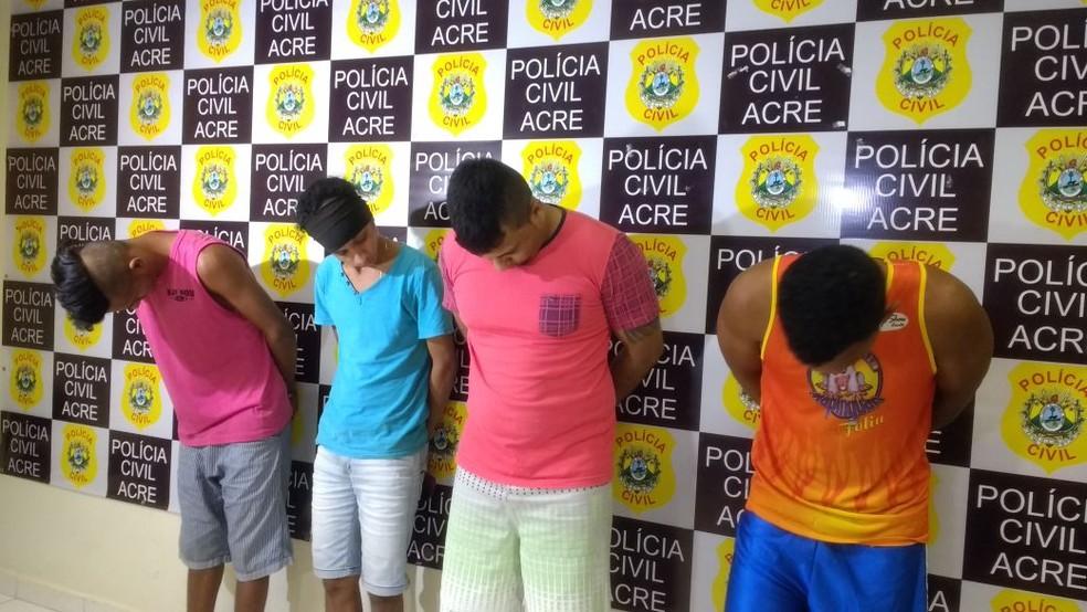 Homens foram presos durante a Operação Horizonte, em Rio Branco (Foto: Quésia Melo/G1 )