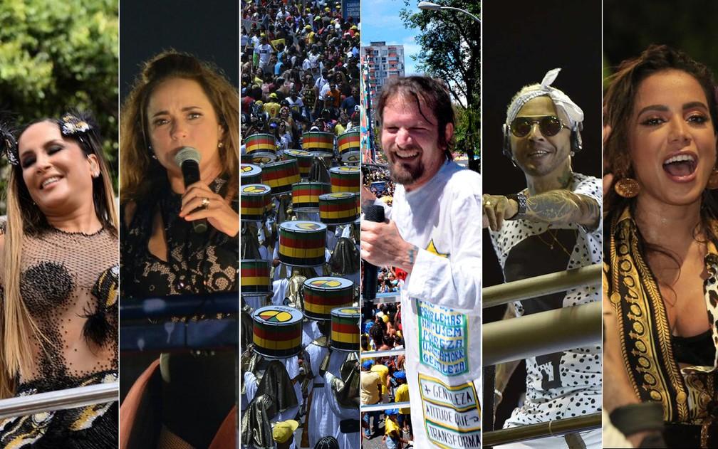 Sexta-feira de carnaval 2020 em Salvador — Foto: Arte/G1 BA
