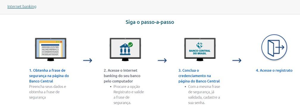 Obtenha a frase de segurança na página do Banco Central — Foto: Reprodução/BC