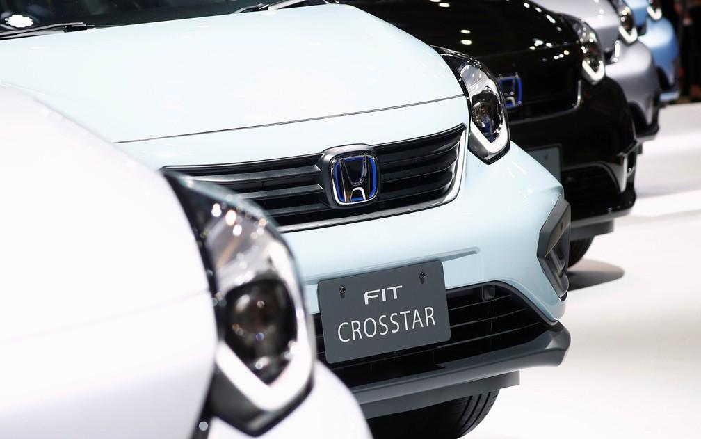 Novo Honda Fit Crosstar tem para-choque mais pronunciado que nas demais versões — Foto: Edgar Su/Reuters
