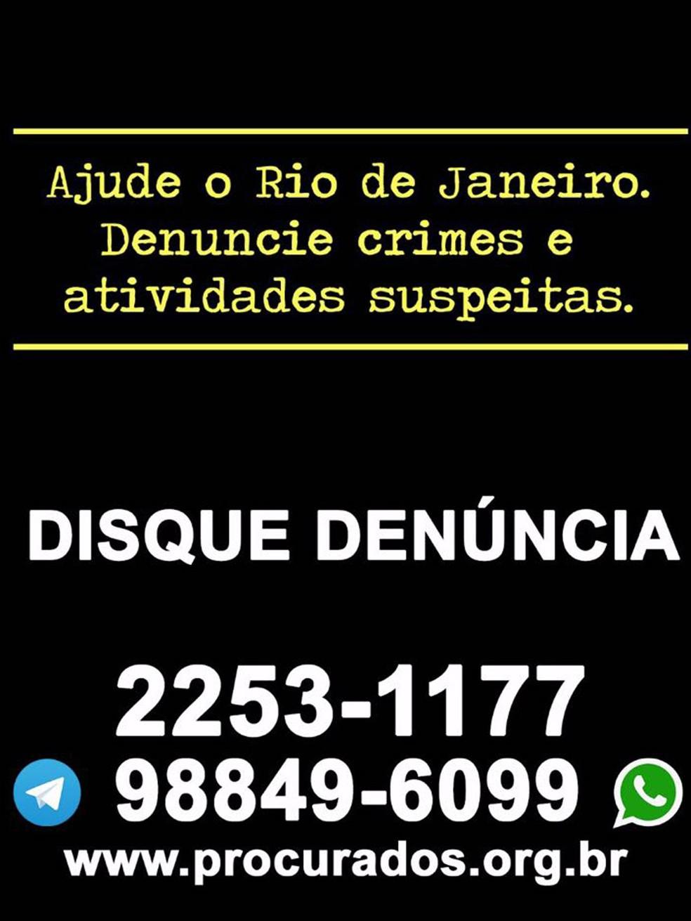 Imagem de panfleto lançado por helicóptero do Exército sobre a Rocinha (Foto: Divulgação)
