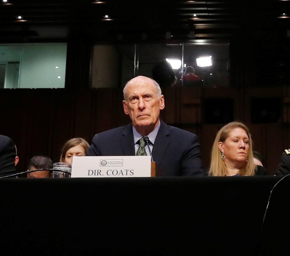 -  Dan Coats fala em comissão do Senado  Foto: Reuters/Leah Millis