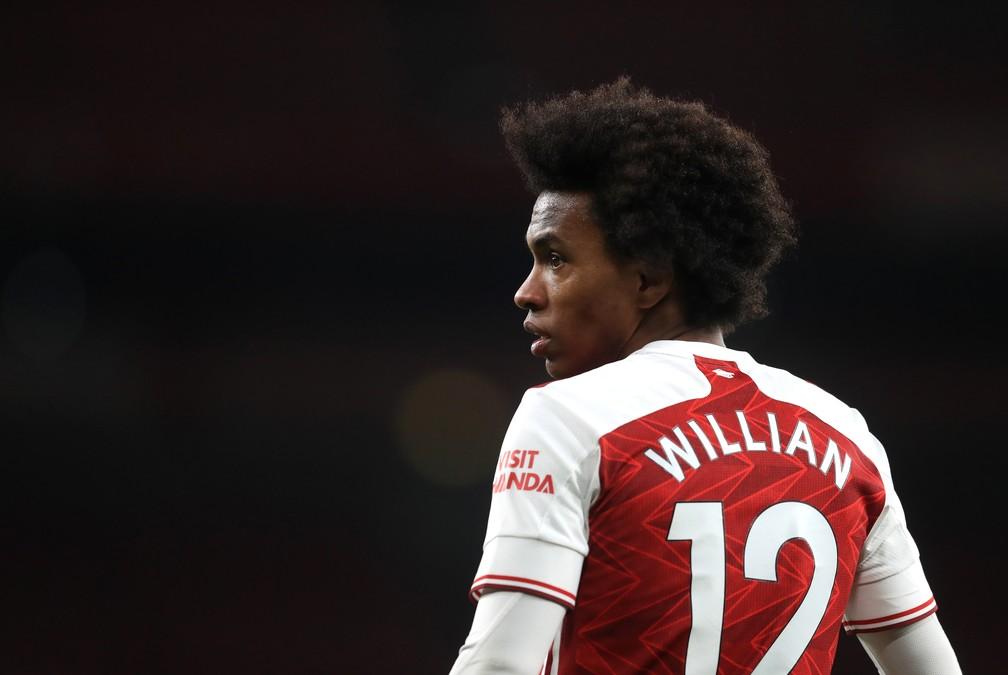 Willian assinou nesta segunda-feira a rescisão com o Arsenal — Foto: Getty Images
